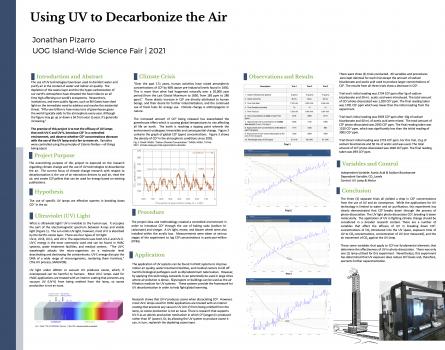 Jonathan Pizarro 2021 UV Science Fair Poster